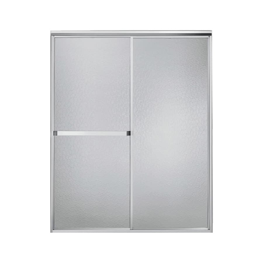 Sterling Standard 54-in to 59-in W x 65-in H Silver Sliding Shower Door