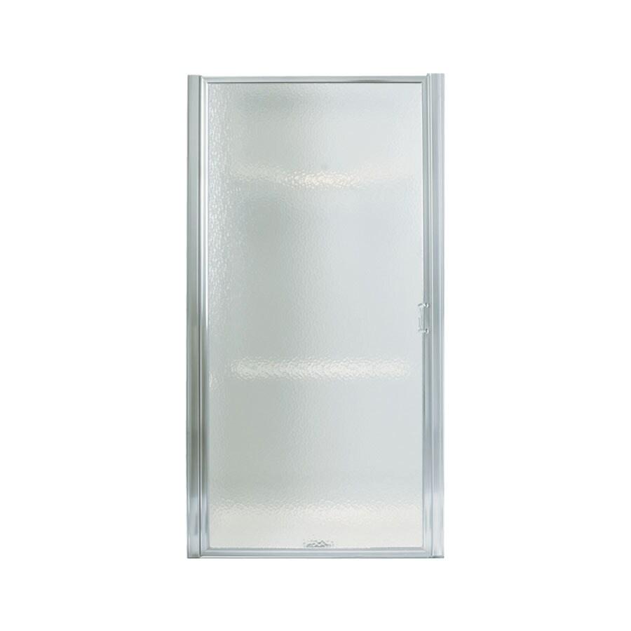 Sterling 34-1/2-in to 36-in Silver Framed Pivot Shower Door