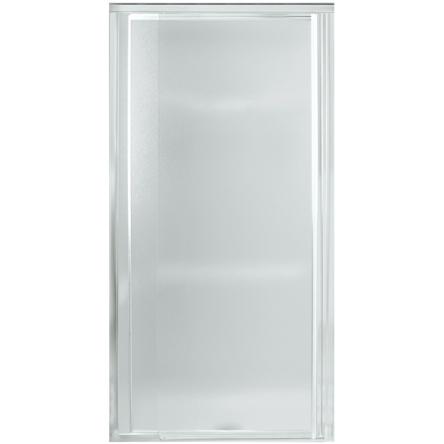 Sterling Vista Pivot 31.25-in to 36-in Silver Pivot Shower Door