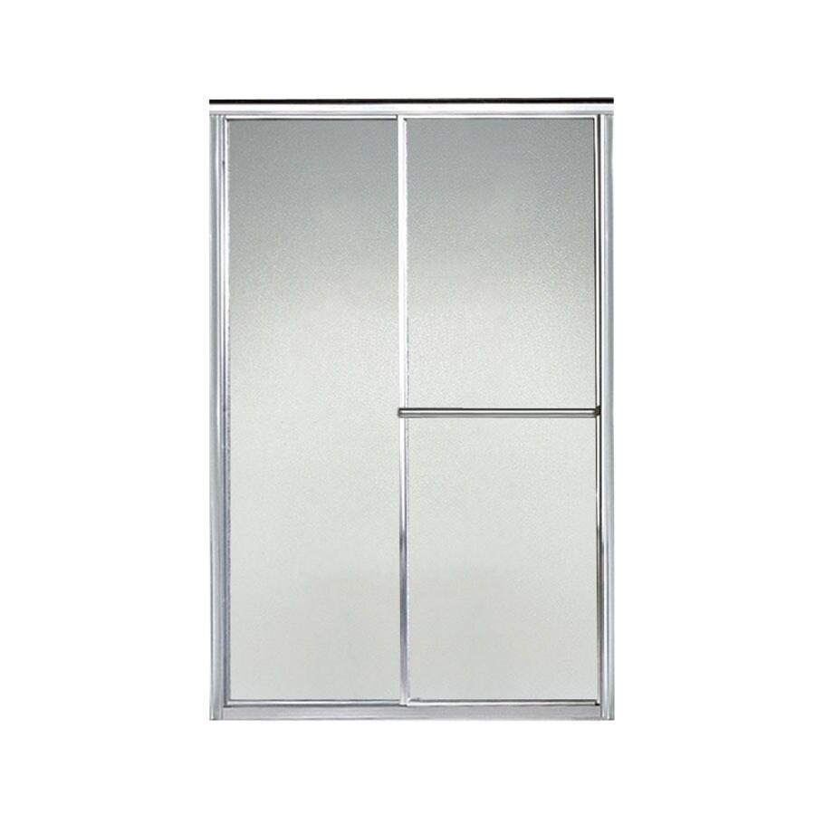 Sterling Deluxe 43.875-in to 48.875-in W x 70-in H Silver Sliding Shower Door