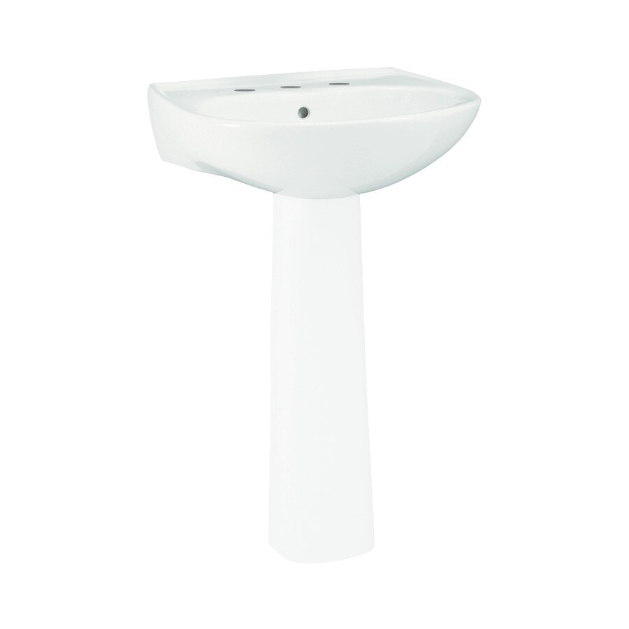 Sterling Sacramento 18.25-in L x 18-in W White Vitreous China Oval Pedestal Sink Top
