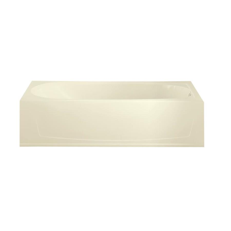 Sterling Performa Biscuit Fiberglass and Plastic Composite Oval In Rectangle Skirted Bathtub with Right-Hand Drain (Common: 29-in x 60-in; Actual: 15-in x 29-in x 60.25-in)