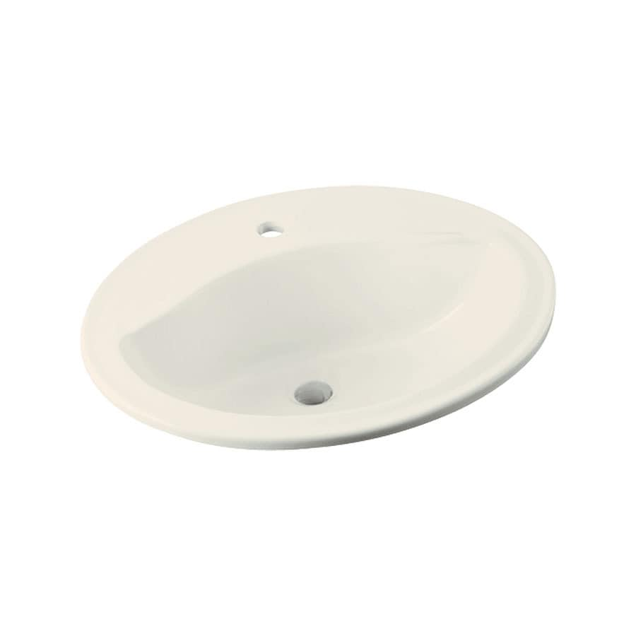 Sterling Sanibel Biscuit Drop-In Oval Bathroom Sink