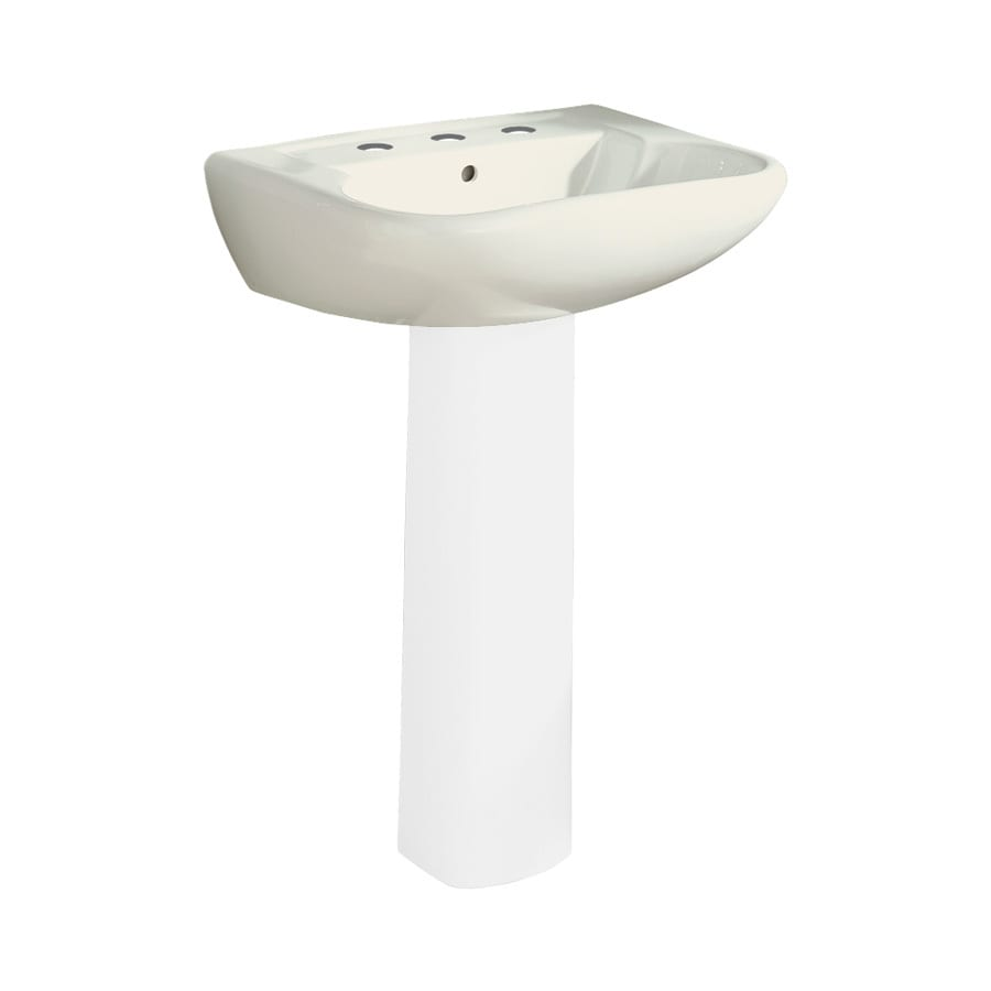 Sterling Southampton 23.375-in L x 18.25-in W Biscuit Vitreous China Oval Pedestal Sink Top