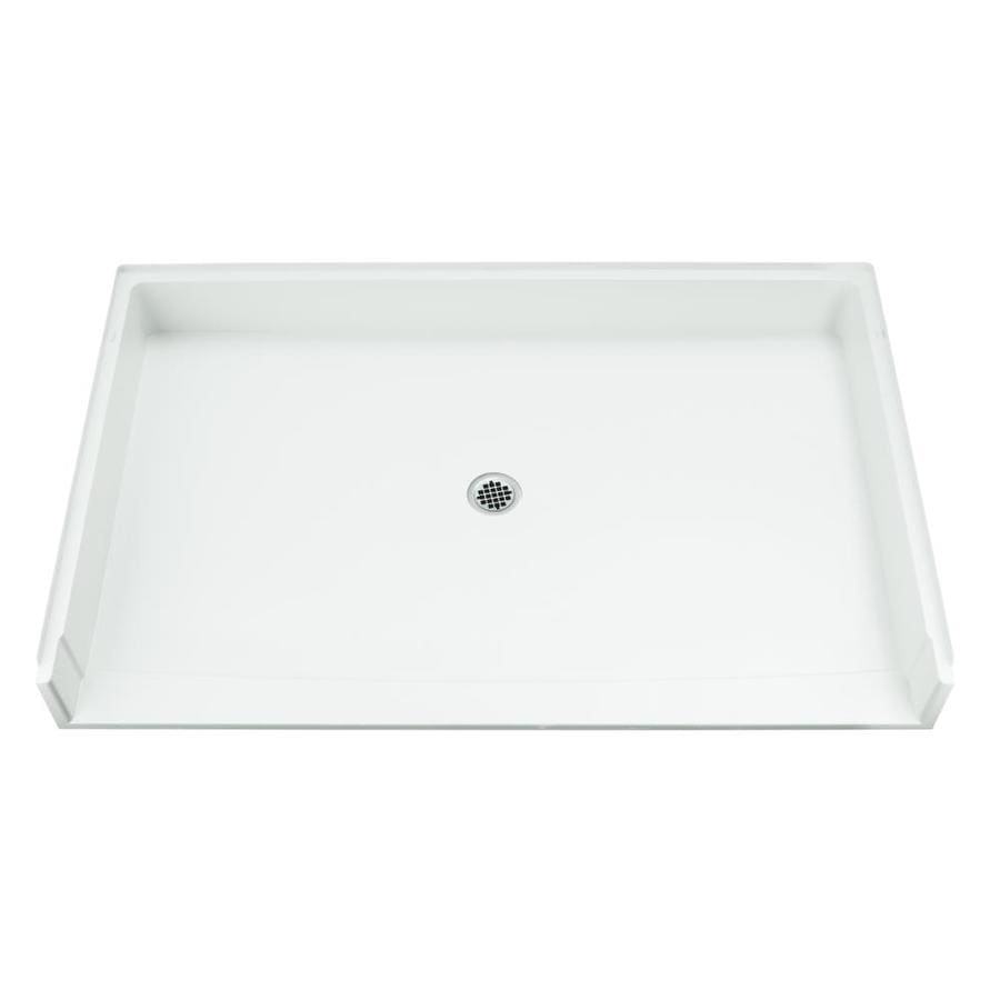 Sterling White Vikrell Shower Base (Common: 40-in W x 64-in L; Actual: 39.375-in W x 63.25-in L)