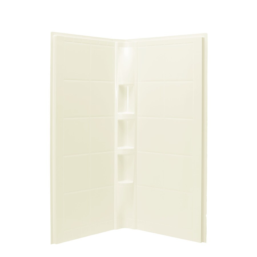 Sterling Shower Wall Surround Corner Wall Panel (Common: 41-in; Actual: 74.25-in x 40.25-in)