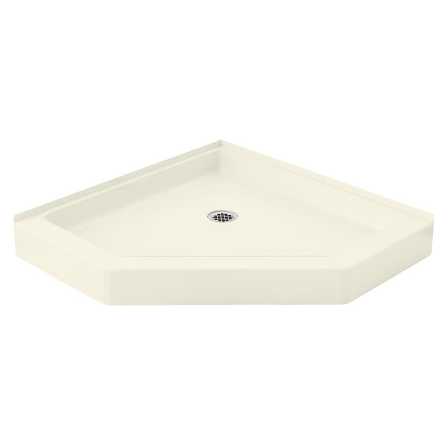 Sterling Intrigue 39-in L x 39-in W Biscuit Vikrell Neo-Angle Corner Shower Base