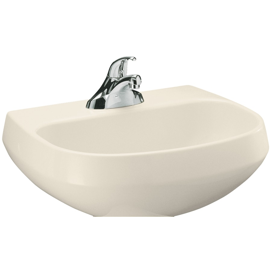 KOHLER Wellworth 22.25-in L x 18.25-in W Almond Vitreous China Oval Pedestal Sink Top