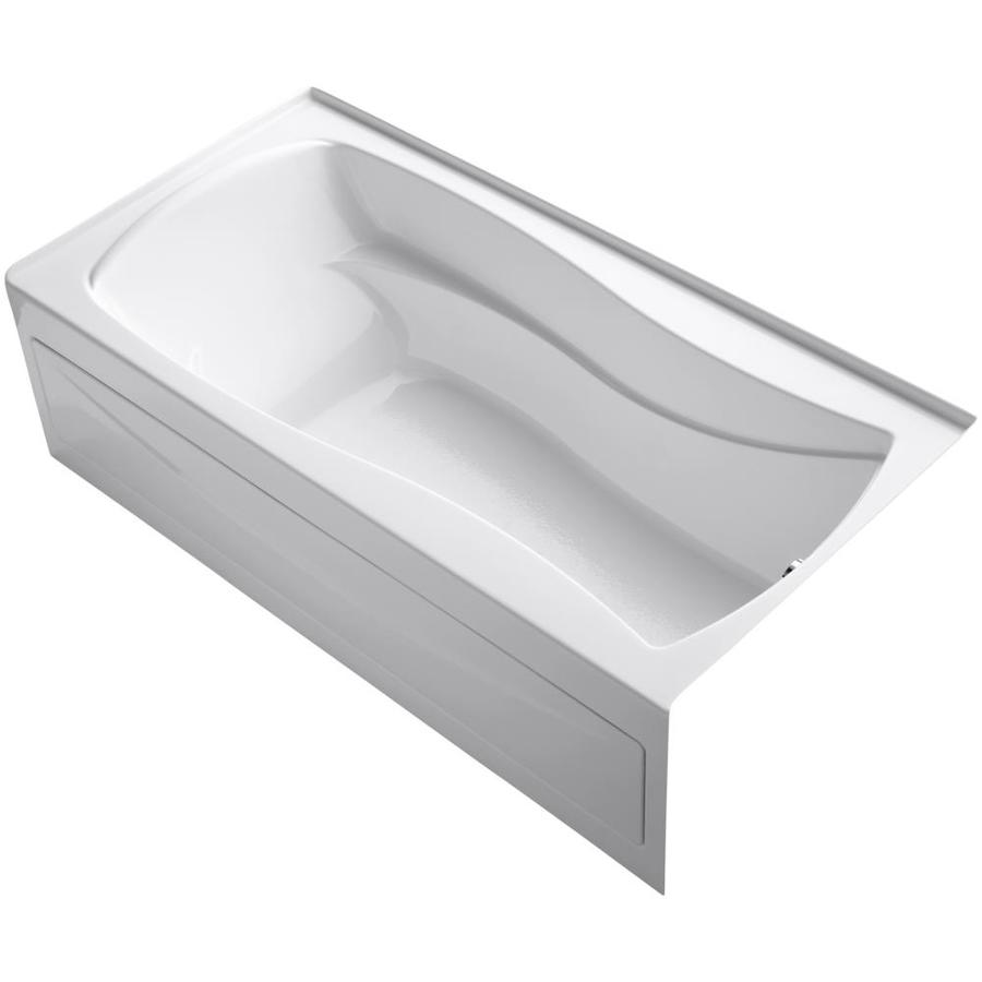 KOHLER Mariposa White Acrylic Hourglass In Rectangle Skirted Bathtub with Right-Hand Drain (Common: 36-in x 72-in; Actual: 20-in x 36-in x 72-in)