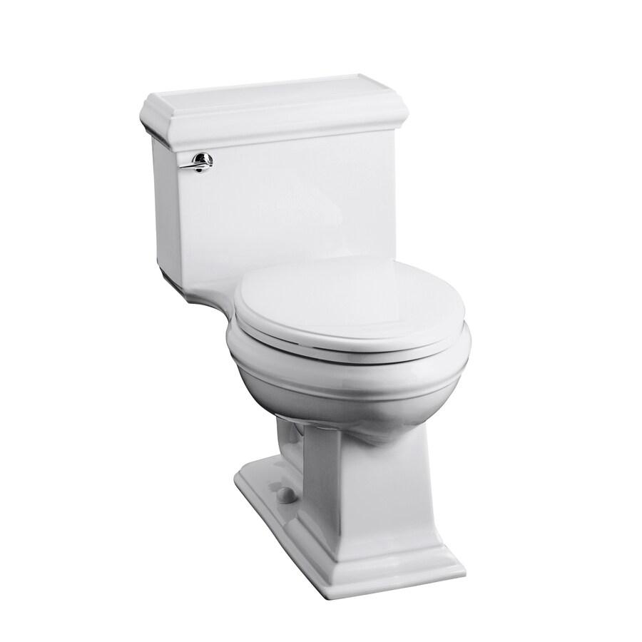 KOHLER Memoirs White 1.6-GPF (6.06-LPF) 12-in Rough-In Elongated Chair Height Toilet