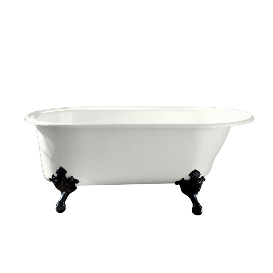 KOHLER Iron Works Historic White Cast Iron Oval Clawfoot Bathtub with Reversible Drain (Common: 36-in x 66-in; Actual: 24.5-in x 36-in x 66-in)