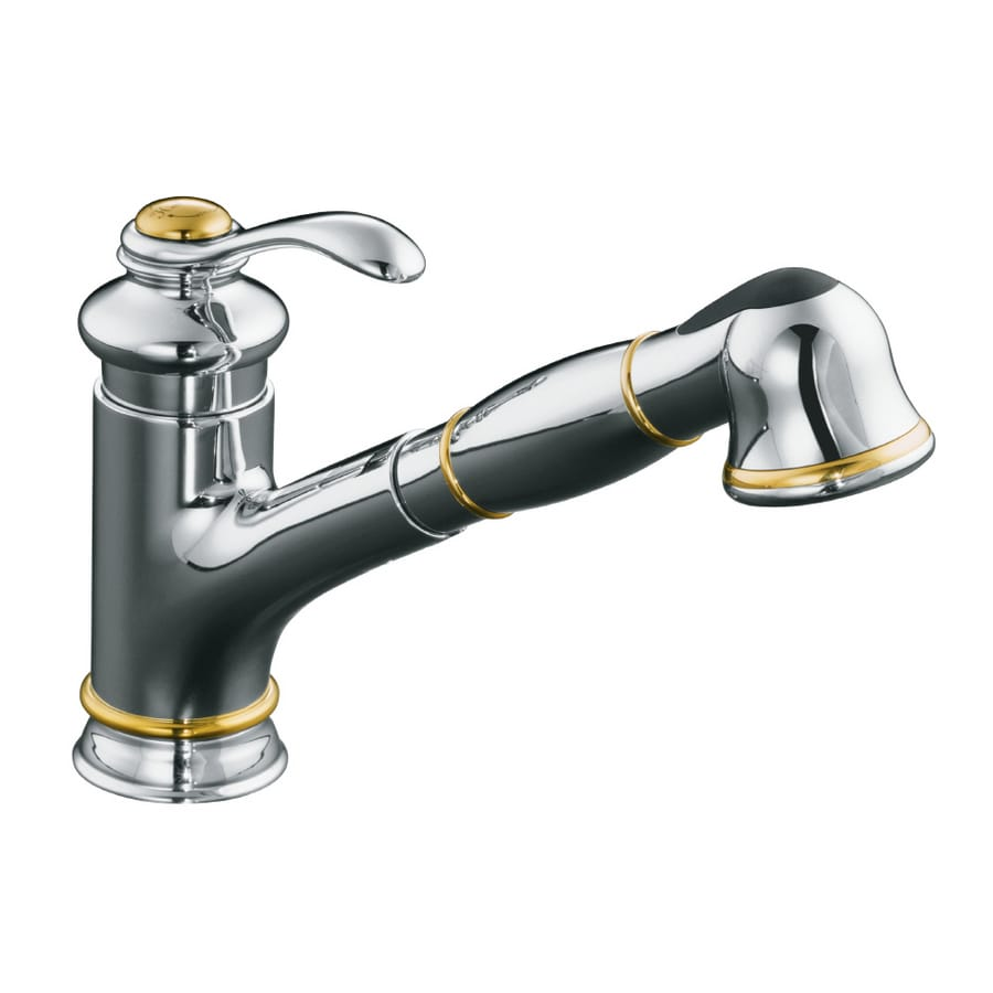 shop kohler fairfax single handle kitchen faucet with pull kohler k 7505 vs purist vibrant stainless steel pullout