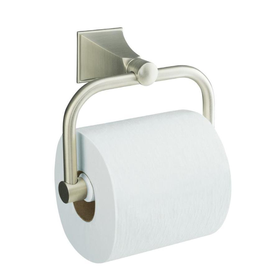KOHLER Memoirs Vibrant Brushed Nickel Surface Mount Toilet Paper Holder