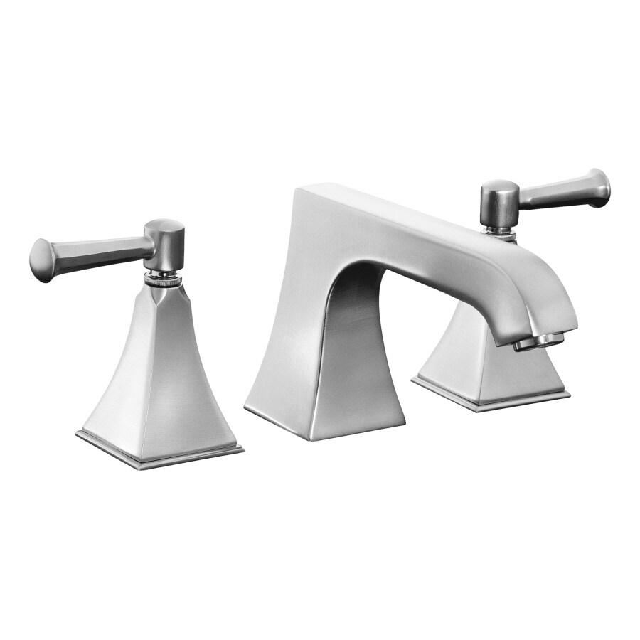 KOHLER Memoirs Brushed Chrome 2-Handle Fixed Deck Mount Tub Faucet