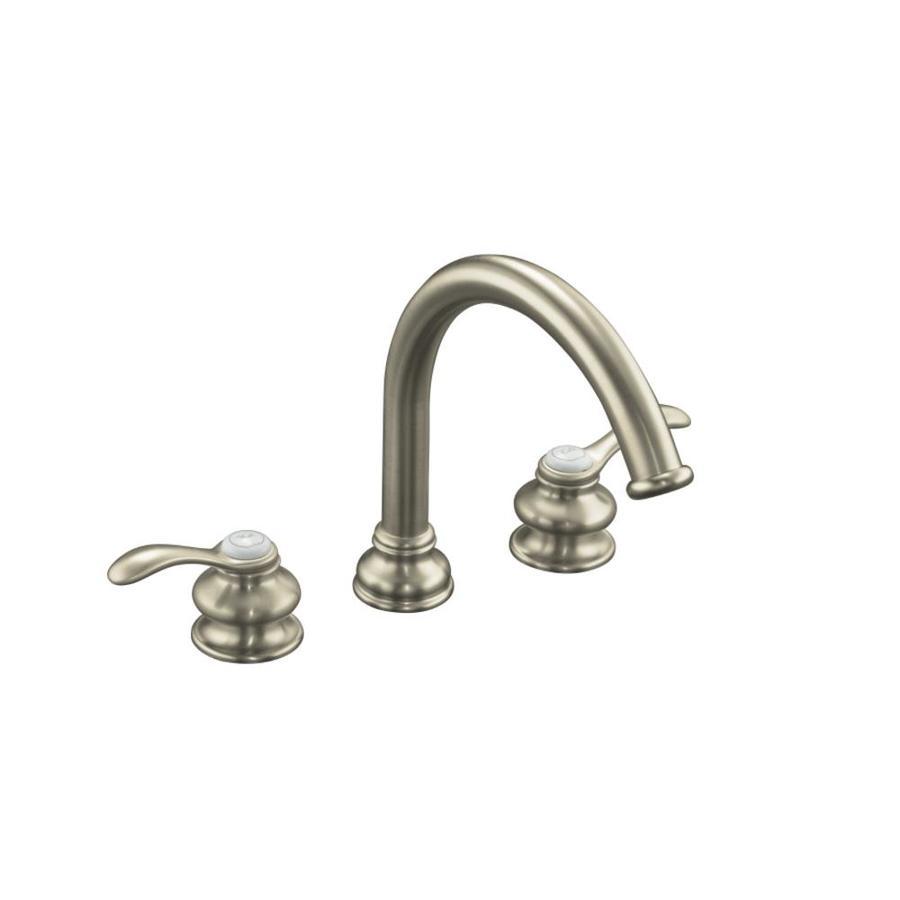 KOHLER Fairfax Vibrant Brushed Nickel 2-Handle Fixed Deck Mount Bathtub Faucet