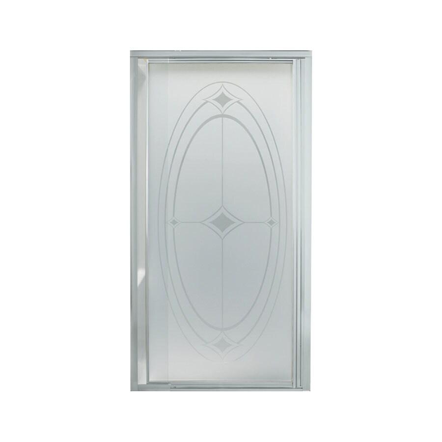 Sterling 27-1/2-in to 31-1/4-in Silver Framed Pivot Shower Door