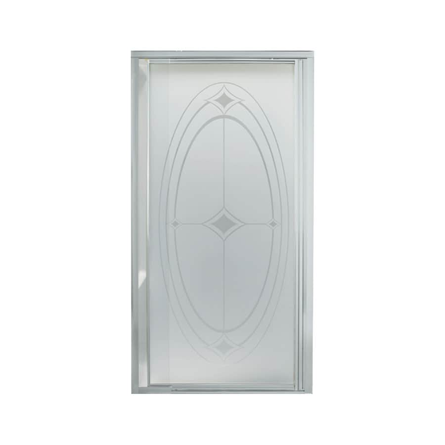 Sterling 31-1/4-in to 36-in Silver Framed Pivot Shower Door