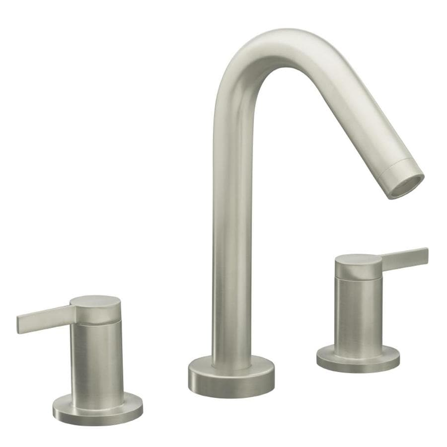 KOHLER Stillness Vibrant Brushed Nickel 2-Handle Fixed Deck Mount Bathtub Faucet