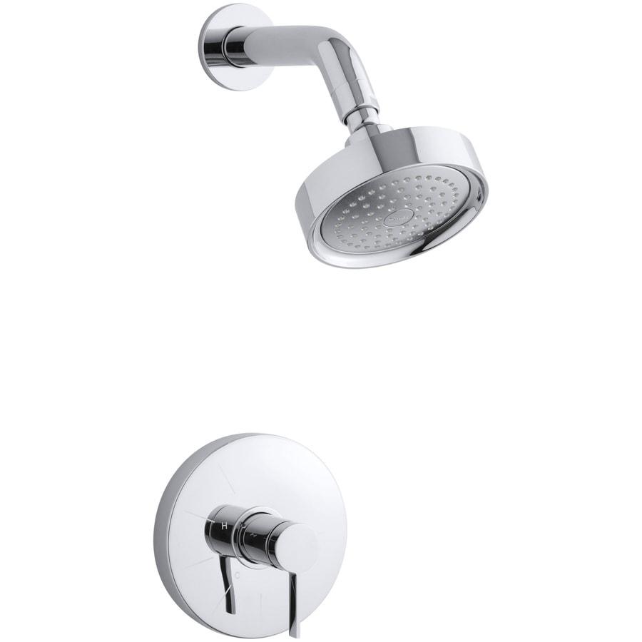KOHLER Stillness Polished Chrome 1-Handle Shower Faucet Trim Kit with Single Function Showerhead