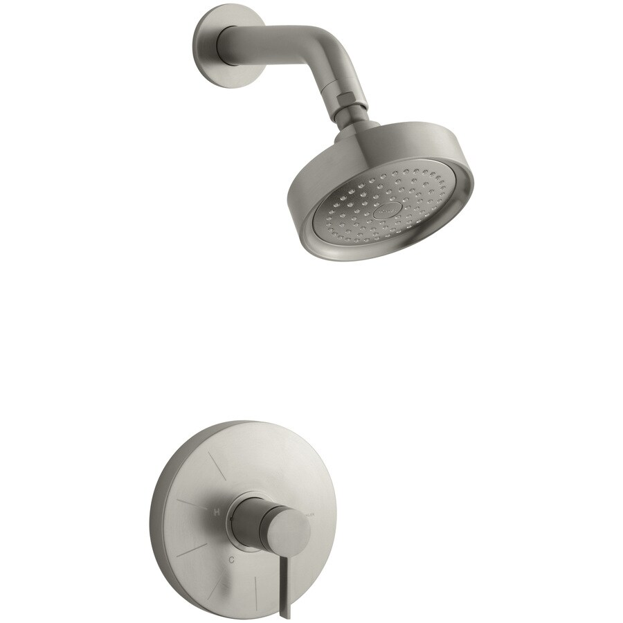 KOHLER Stillness Vibrant Brushed Nickel 1-Handle Shower Faucet Trim Kit with Single Function Showerhead