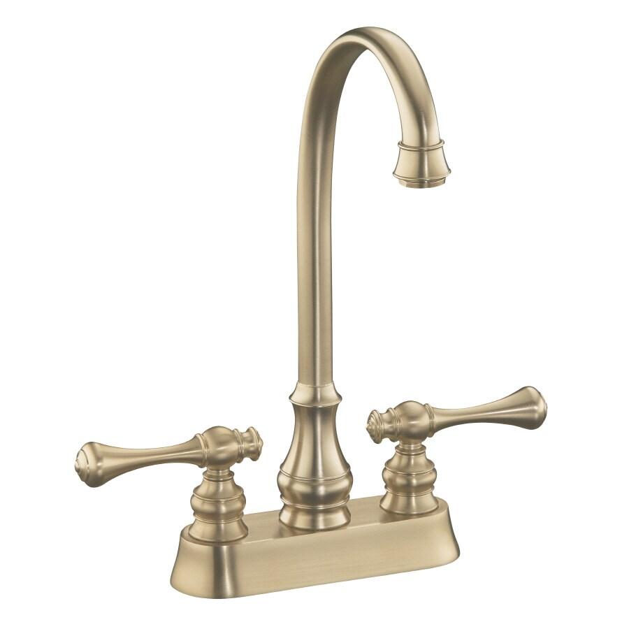 Shop Kohler Revival Vibrant Brushed Bronze 2 Handle Bar And Prep Faucet At