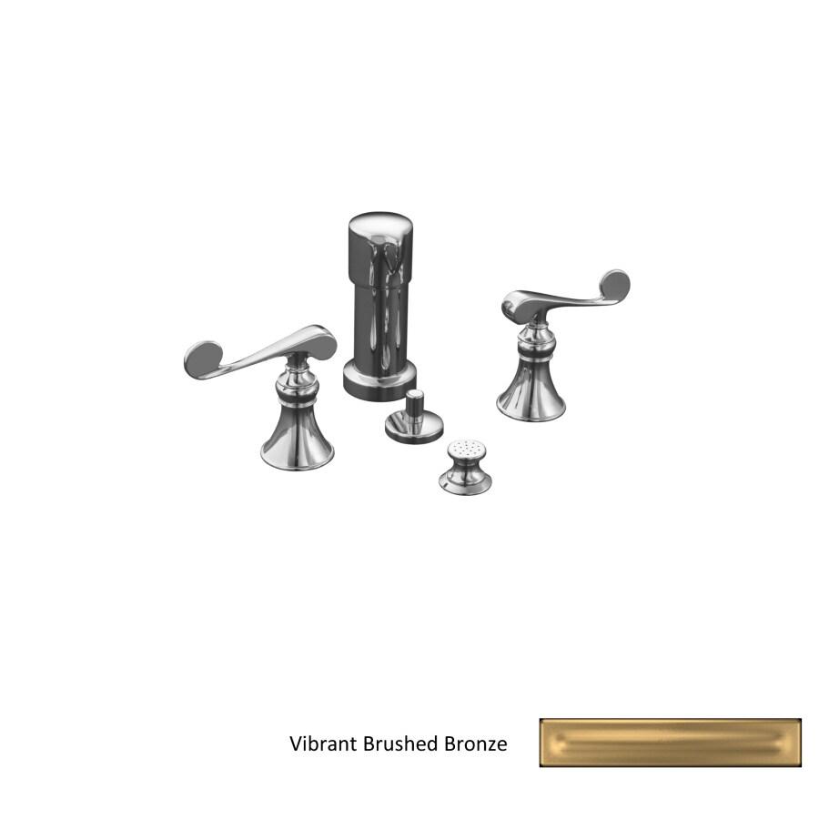 KOHLER Revival Vibrant Brushed Bronze Vertical Spray Bidet Faucet with Trim Kit
