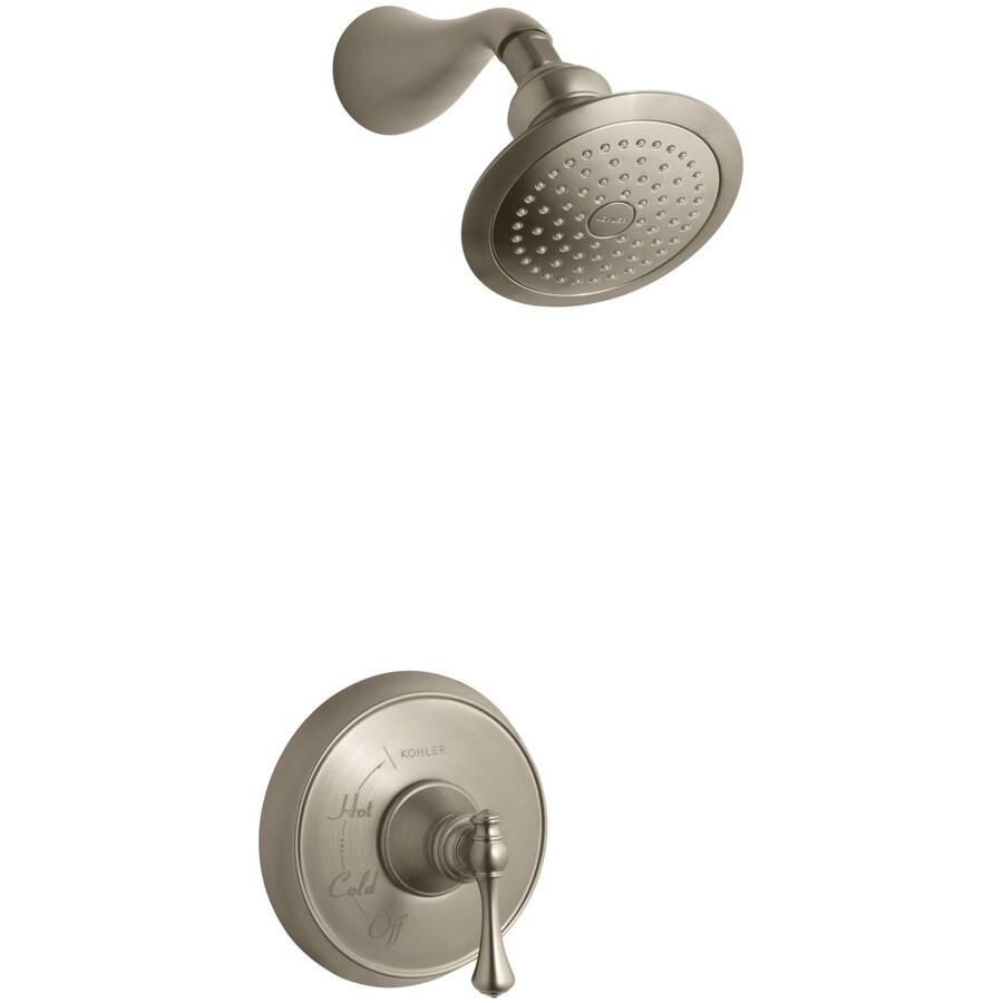 KOHLER Revival Vibrant Brushed Bronze 1-Handle Shower Faucet Trim Kit with Single Function Showerhead