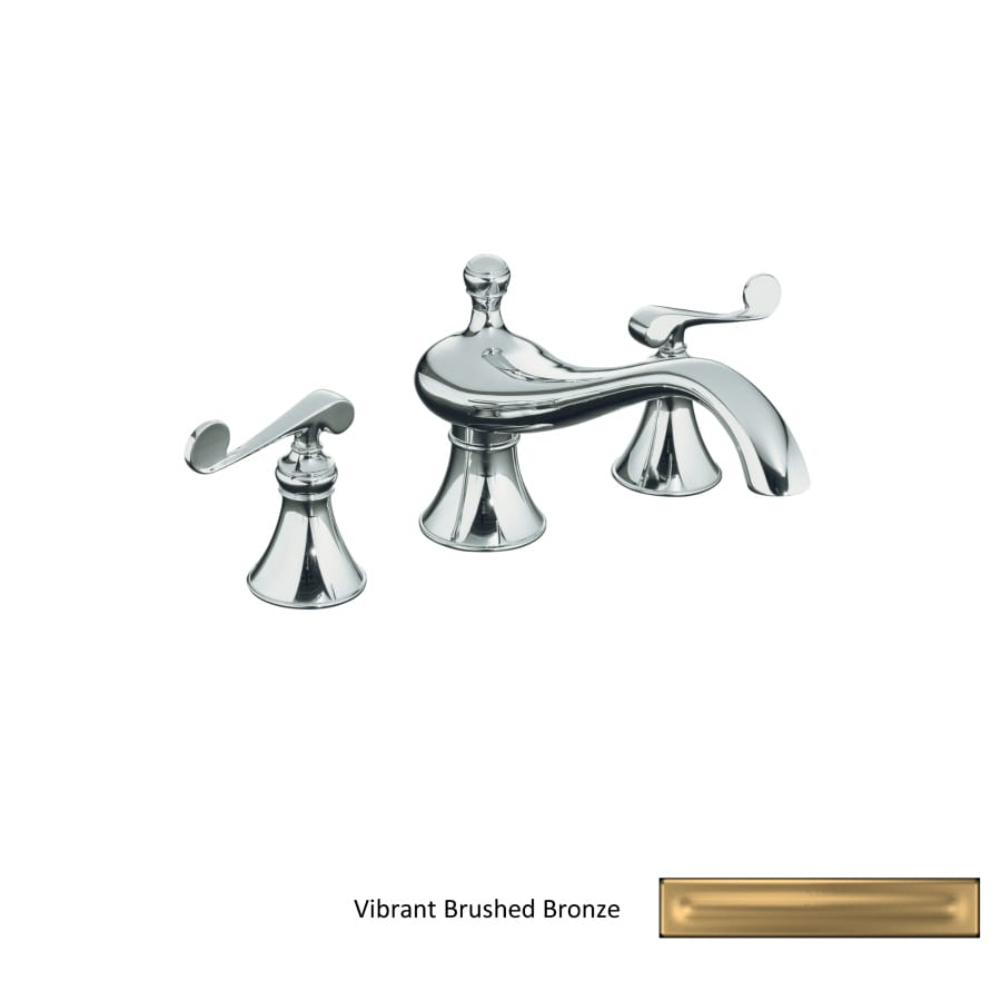 KOHLER Revival Vibrant Brushed Bronze 2-Handle Fixed Deck Mount Bathtub Faucet