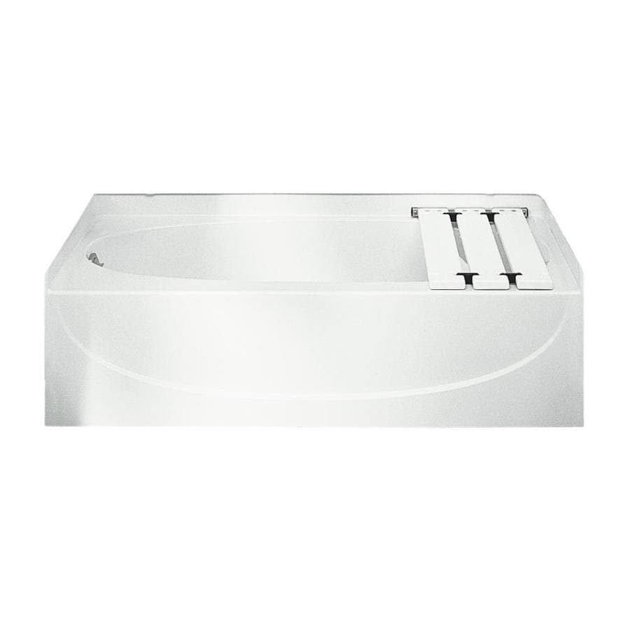 Sterling Acclaim White Fiberglass and Plastic Composite Oval In Rectangle Skirted Bathtub with Left-Hand Drain (Common: 30-in x 60-in; Actual: 15-in x 30.5-in x 60.25-in)