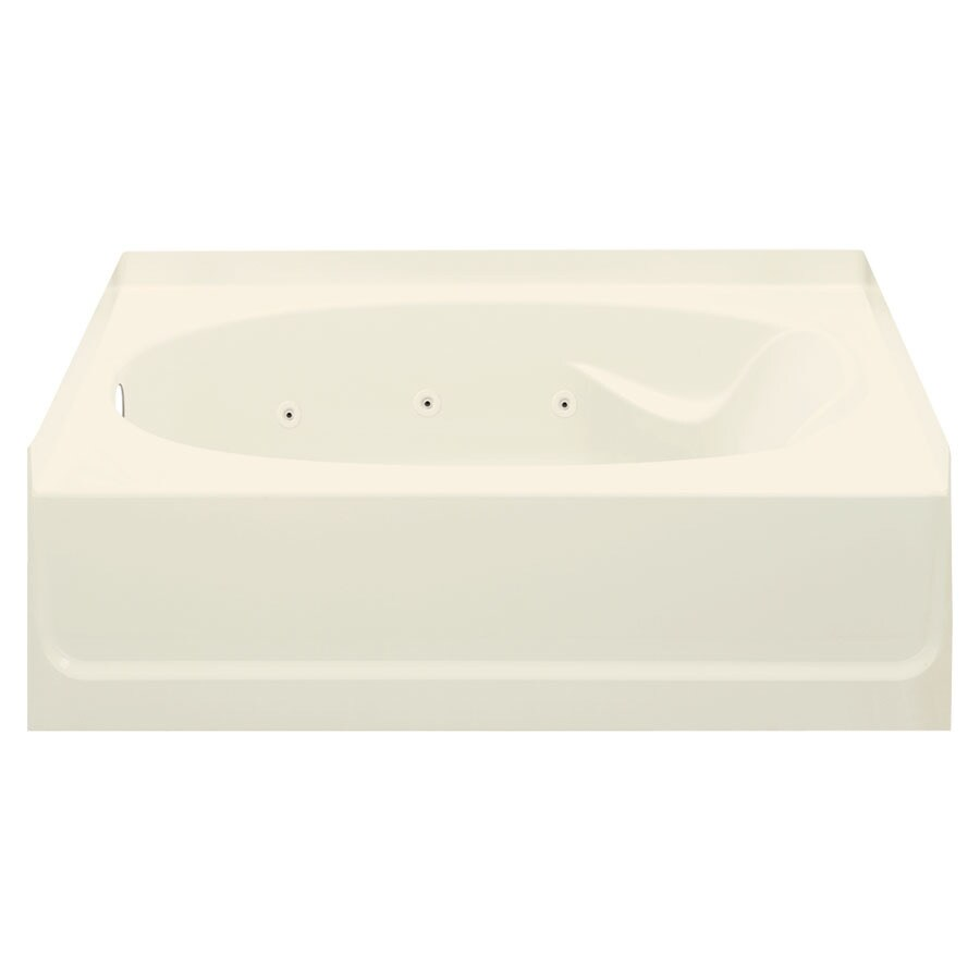 Sterling Ensemble Biscuit Fiberglass and Plastic Oval In Rectangle Whirlpool Tub (Common: 42-in x 60-in; Actual: 16-in x 43.5-in x 60.25-in)