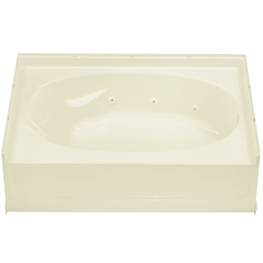 Sterling Ensemble Biscuit Vikrell Oval In Rectangle Whirlpool Tub (Common: 42-in x 60-in; Actual: 16-in x 42-in x 60-in)