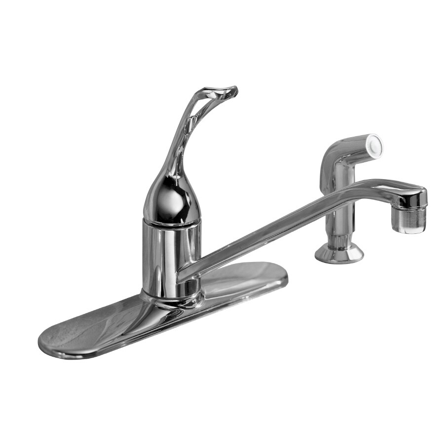 KOHLER Coralais Polished Chrome 1-Handle Low-Arc Kitchen Faucet with Side Spray
