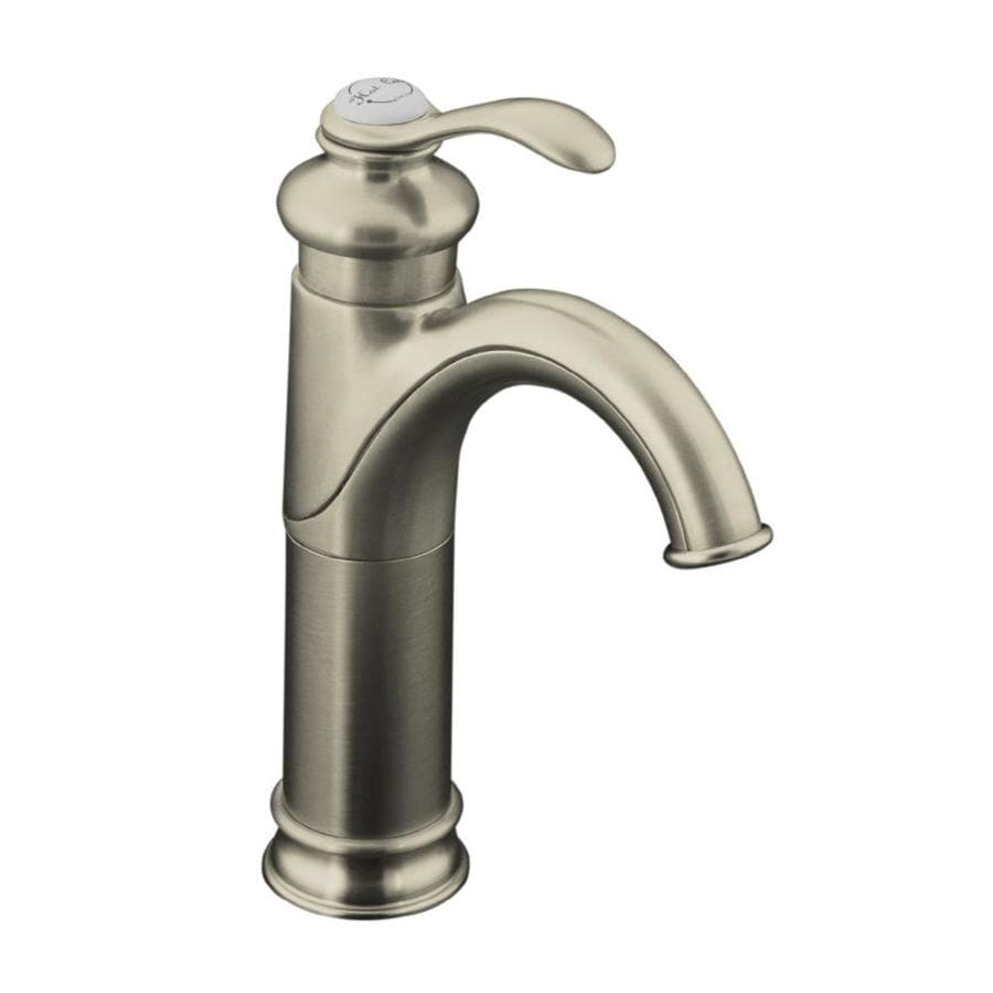 Shop kohler fairfax vibrant brushed nickel 1 handle single - Single hole bathroom faucets brushed nickel ...