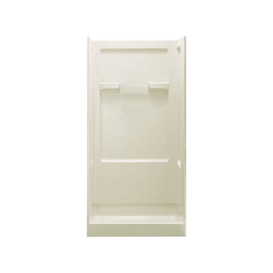Sterling Advantage 72-in H x 36-in W x 34-in L Almond Polystyrene Wall 4-Piece Alcove Shower Kit