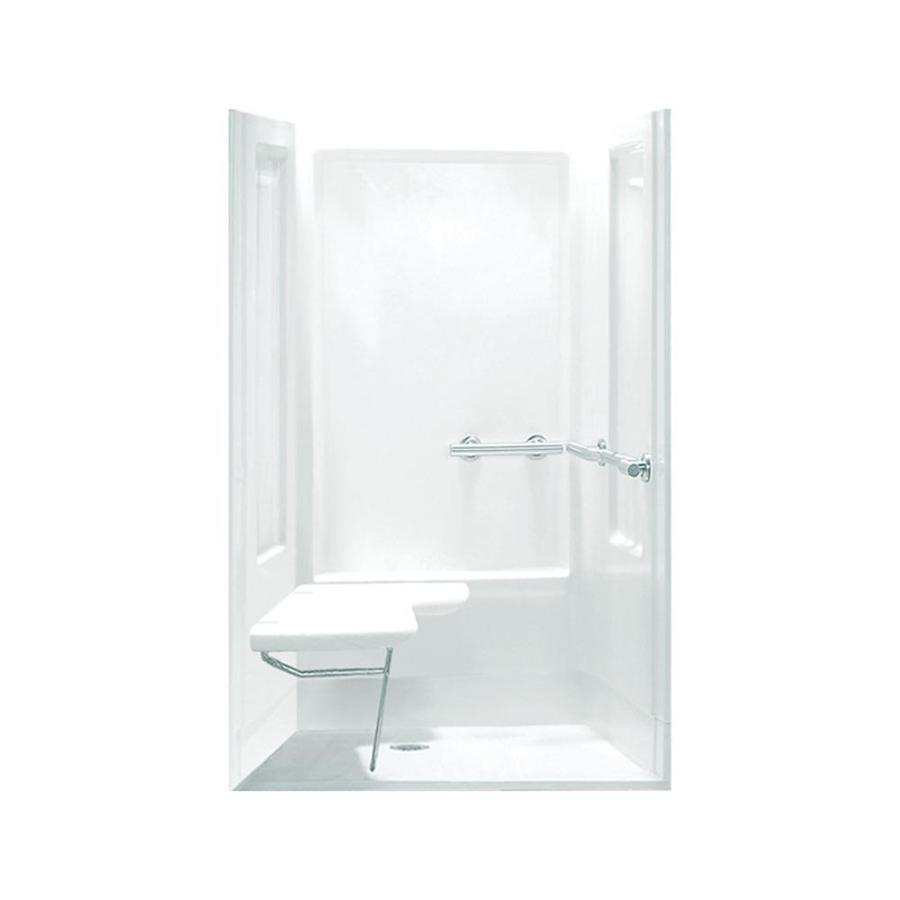 Sterling Transfer White Vikrell Wall and Floor 4-Piece Alcove Shower Kit (Common: 40-in x 40-in; Actual: 72-in x 39.375-in x 39.375-in)