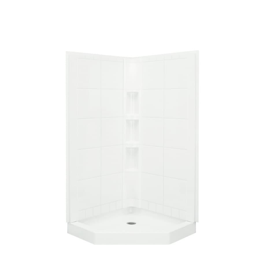 Sterling Corner Shower Kit (Actual: 80.25-in x 40.25-in x 40.25-in)
