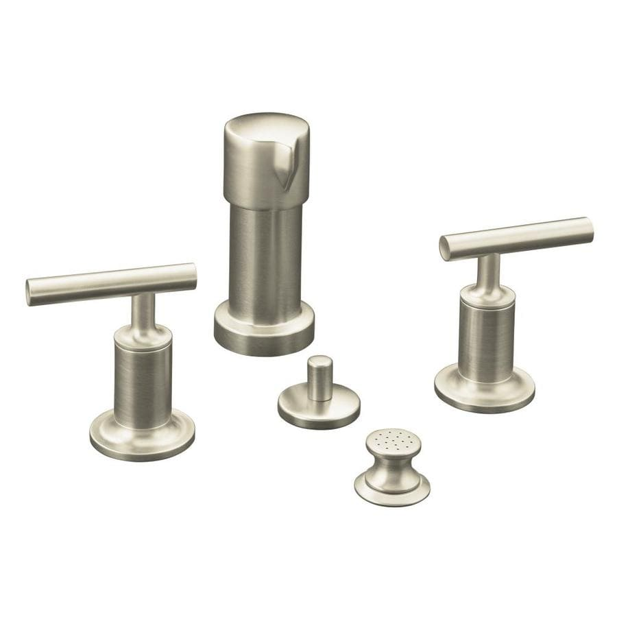 KOHLER Purist Vibrant Brushed Nickel Vertical Spray Bidet Faucet