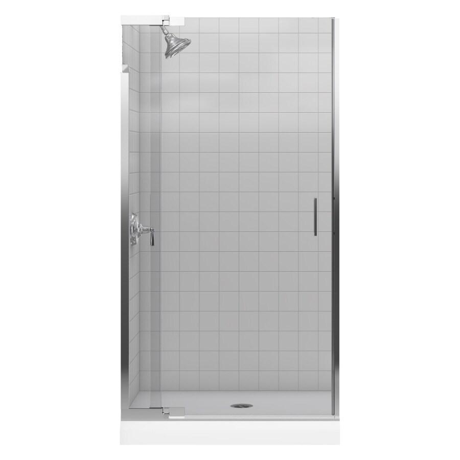 KOHLER Purist 36-in to 39-in Frameless Pivot Shower Door