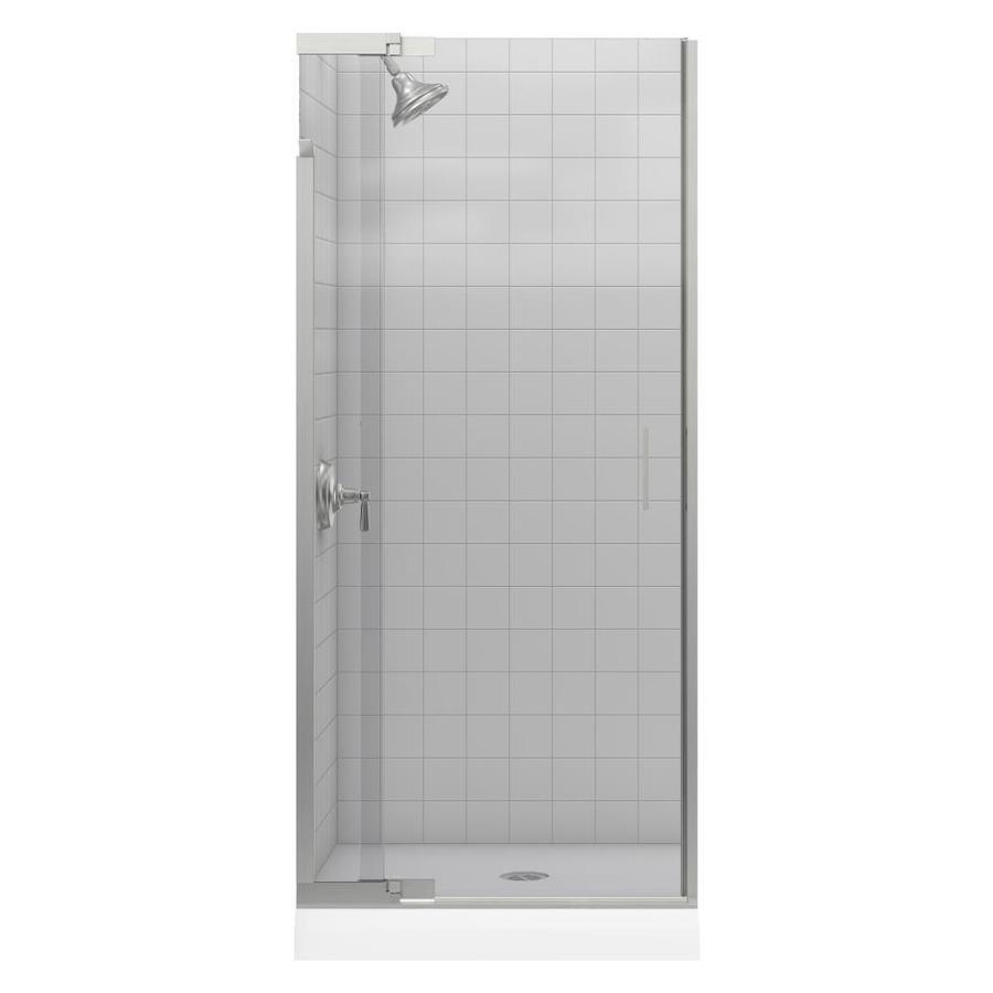 KOHLER Purist 33-in to 36-in Frameless Pivot Shower Door
