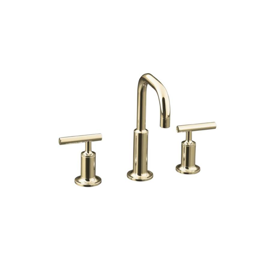 Shop Kohler Purist Vibrant Polished Nickel 2 Handle Widespread Watersense Bathroom Faucet Drain