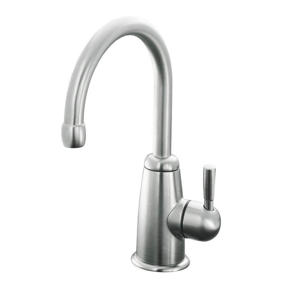 KOHLER Wellspring Brushed Chrome 1-Handle High-Arc Kitchen Faucet