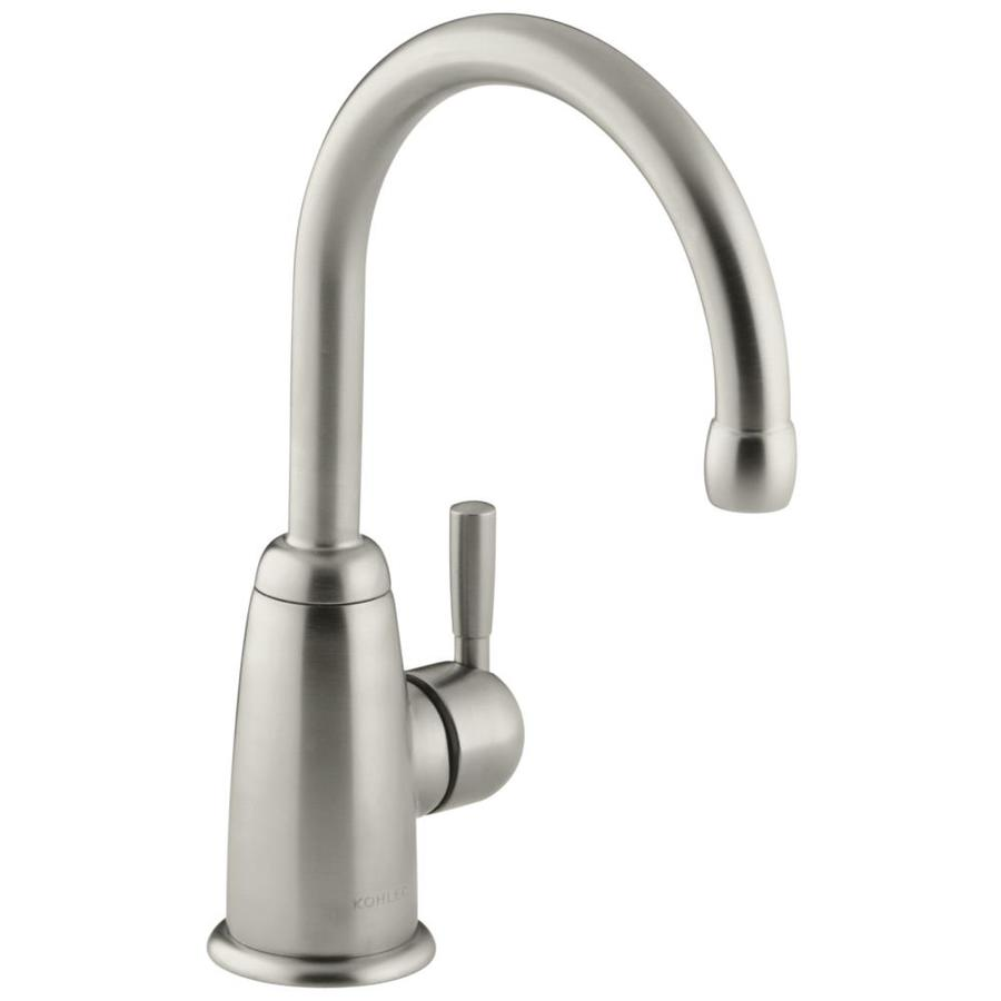 Brushed Nickel Kitchen Faucet : ... Vibrant Brushed Nickel 1-Handle High-Arc Kitchen Faucet at Lowes.com