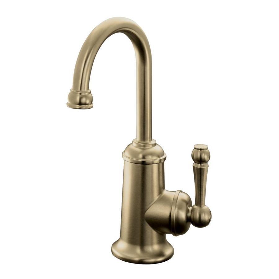 KOHLER Wellspring Vibrant Brushed Bronze 1-Handle High-Arc Kitchen Faucet