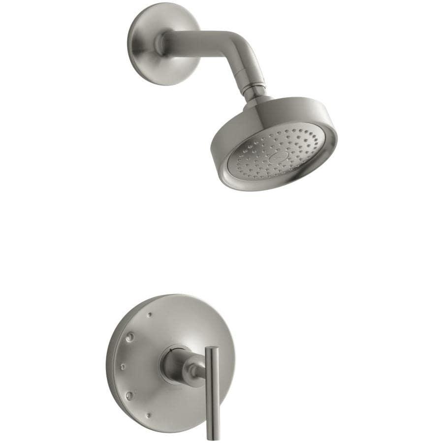 KOHLER Purist Vibrant Brushed Nickel 1-Handle Shower Faucet Trim Kit with Single Function Showerhead