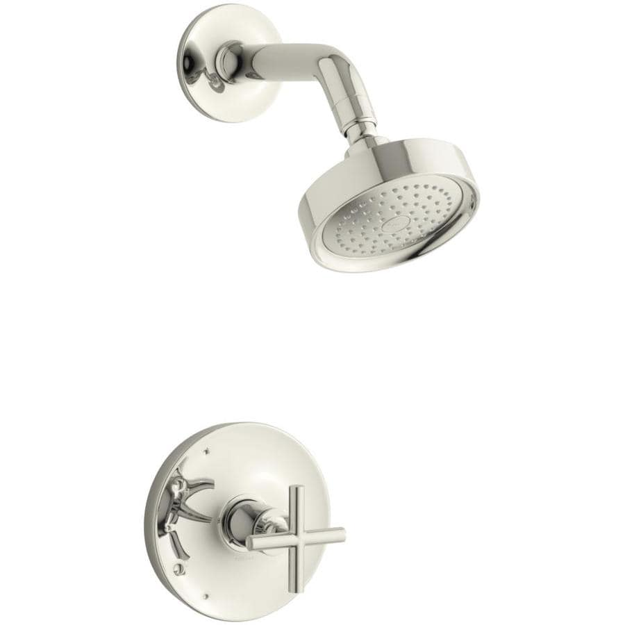 KOHLER Purist Vibrant Polished Nickel 1-Handle Shower Faucet Trim Kit with Single Function Showerhead