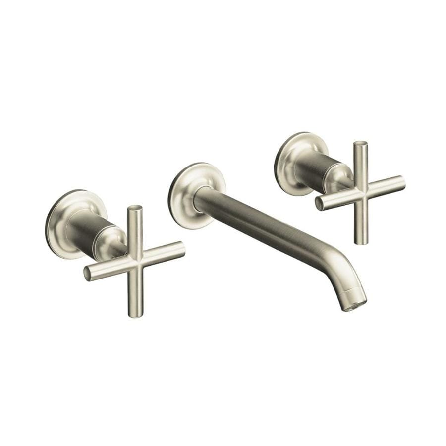 KOHLER Purist Vibrant Brushed Nickel 2-Handle Widespread WaterSense Bathroom Faucet
