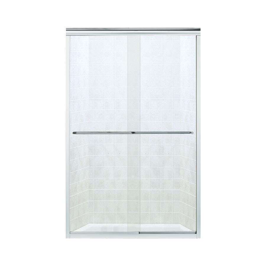 Sterling Finesse 45.75-in to 47.25-in W x 70.3125-in H Silver Sliding Shower Door