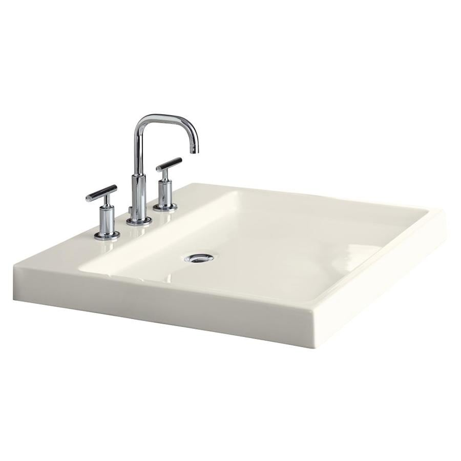 KOHLER Purist Biscuit Vessel Rectangular Bathroom Sink