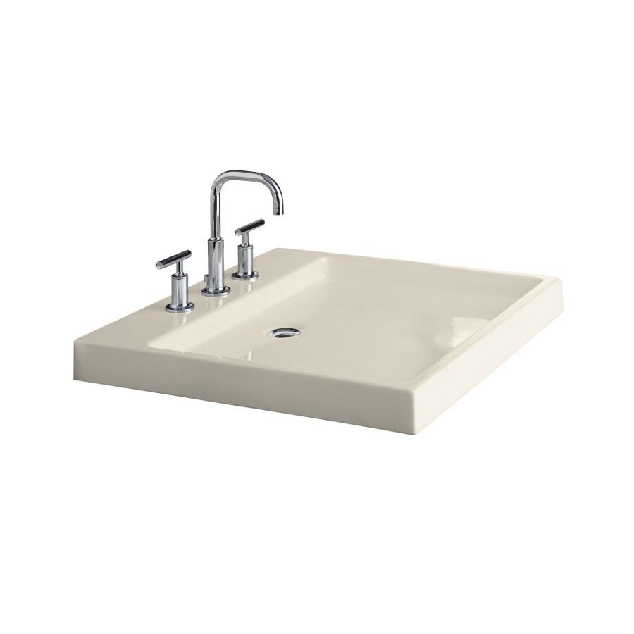 KOHLER Almond Fire Clay Vessel Bathroom Sink