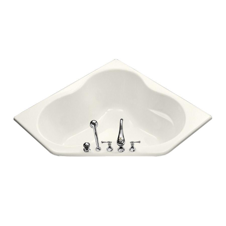 KOHLER ProFlex Biscuit Acrylic Corner Drop-in Bathtub with Center Drain (Common: 54-in x 54-in; Actual: 20.5-in x 54-in x 54-in)
